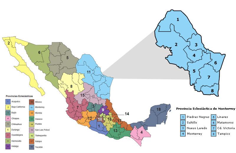 Arquidiocesis De Monterrey Provincia Eclesiastica